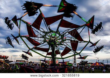 NORWALK, CT, USA - SEPTEMBER 8, 2019:  The Annual Norwalk Oyster Festival in Veteran's Park, Norwalk.