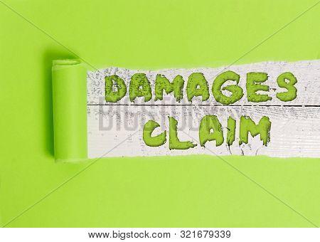 Word writing text Damages Claim. Business concept for Deanalysisd Compensation Litigate Insurance File Suit. poster