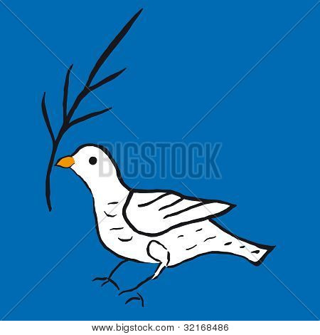 an illustration with the dove of peace poster
