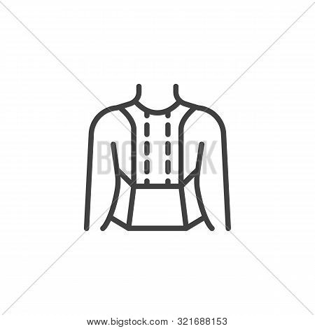 Posture Corrector Line Icon. Linear Style Sign For Mobile Concept And Web Design. Orthopedic Lumbar