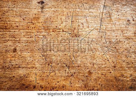 Abstract Background Or Texture Wood Spruce Board With Cut Grooves