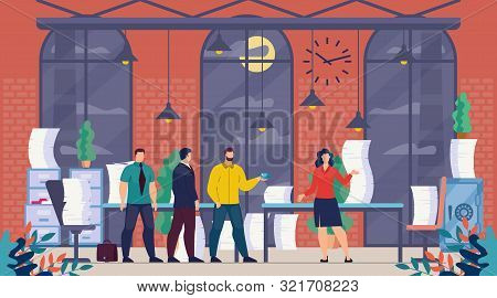 Female Executive Manager, Company Ceo, Lady Boss Trendy Flat Vector Concept, Businesswoman Working I