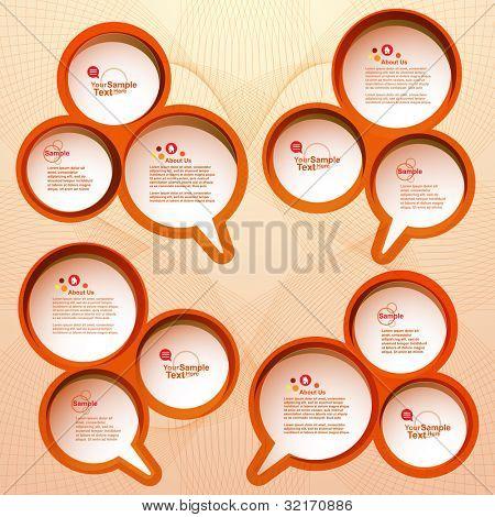 Design speech bubble set, vector