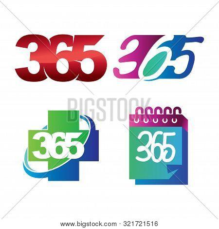 Health Calendar 365 Infinity Logo Icon Design Illustration