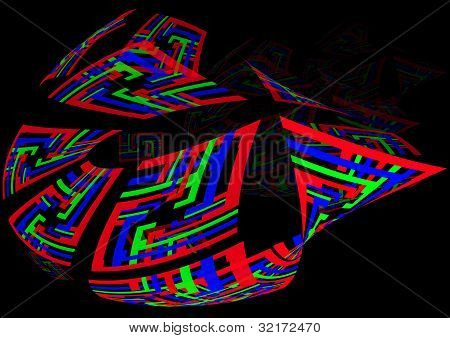 colourful abstract ship