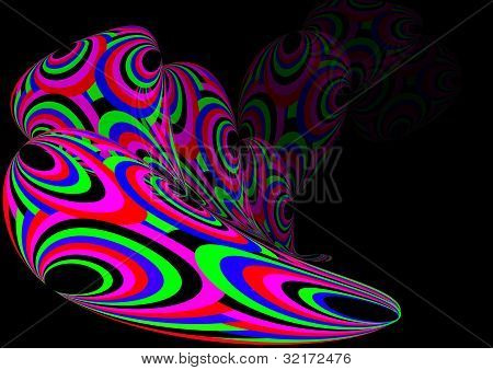 Colourful ripple
