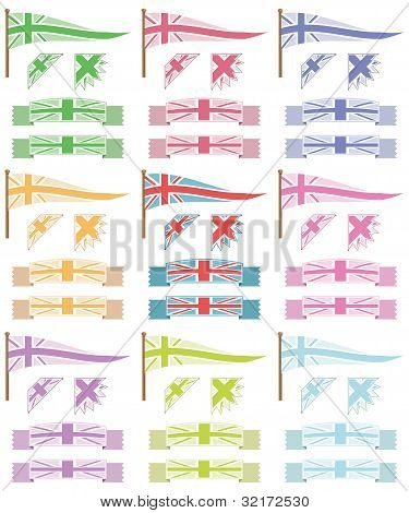 Uk Flags And Ribbons