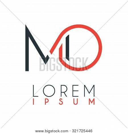 The Logo Between The Letter M And Letter O Or Mo With A Certain Distance And Connected By Orange And