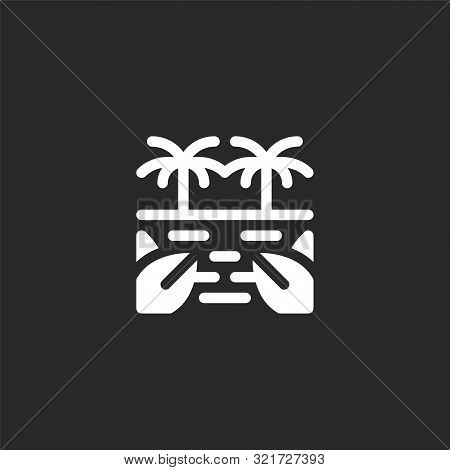 Jungle Icon. Jungle Icon Vector Flat Illustration For Graphic And Web Design Isolated On Black Backg