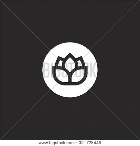 Hop Icon. Hop Icon Vector Flat Illustration For Graphic And Web Design Isolated On Black Background