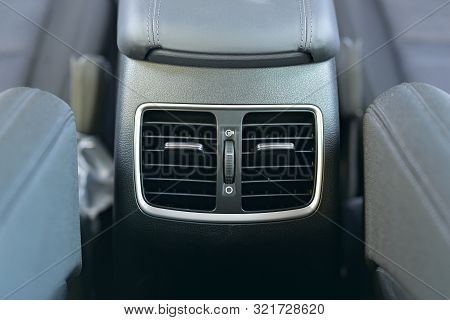 Rear Passenger Air Vent Of Modern Luxury Car