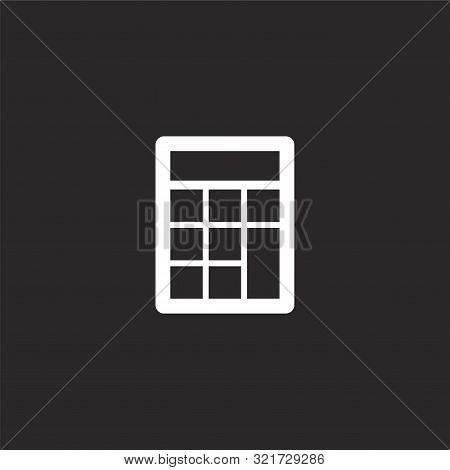 Calculator Icon. Calculator Icon Vector Flat Illustration For Graphic And Web Design Isolated On Bla