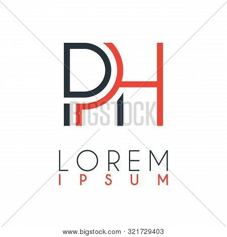 The Logo Between The Letter P And Letter H Or Ph With A Certain Distance And Connected By Orange And