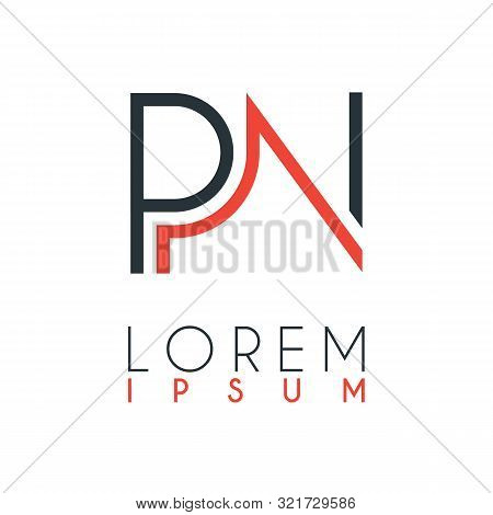 The Logo Between The Letter P And Letter N Or Pn With A Certain Distance And Connected By Orange And