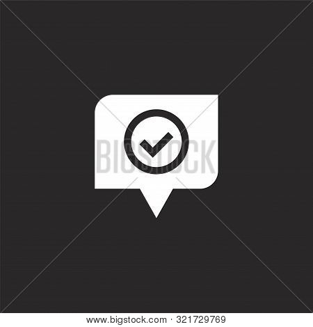 Good Icon. Good Icon Vector Flat Illustration For Graphic And Web Design Isolated On Black Backgroun
