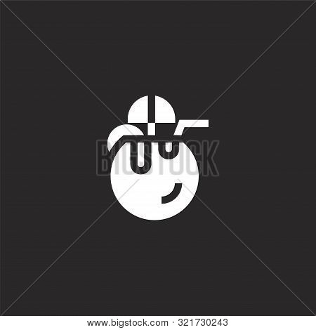 Coconut Drink Icon. Coconut Drink Icon Vector Flat Illustration For Graphic And Web Design Isolated