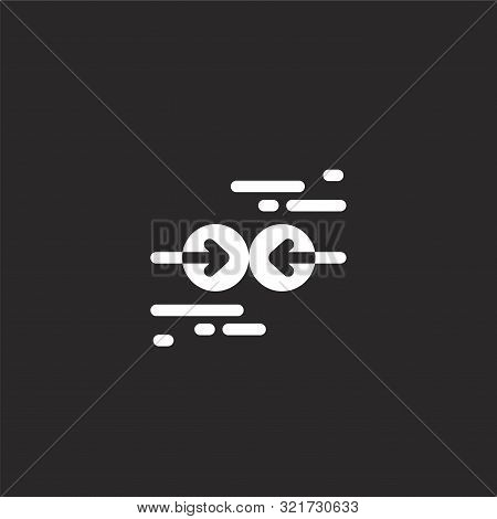 Collision Icon. Collision Icon Vector Flat Illustration For Graphic And Web Design Isolated On Black