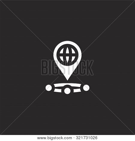 Placeholder Icon. Placeholder Icon Vector Flat Illustration For Graphic And Web Design Isolated On B