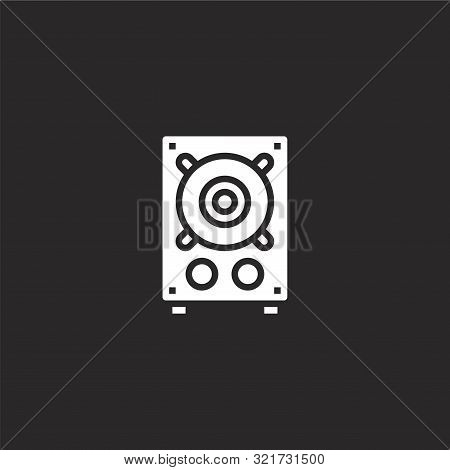 Loudspeaker Icon. Loudspeaker Icon Vector Flat Illustration For Graphic And Web Design Isolated On B