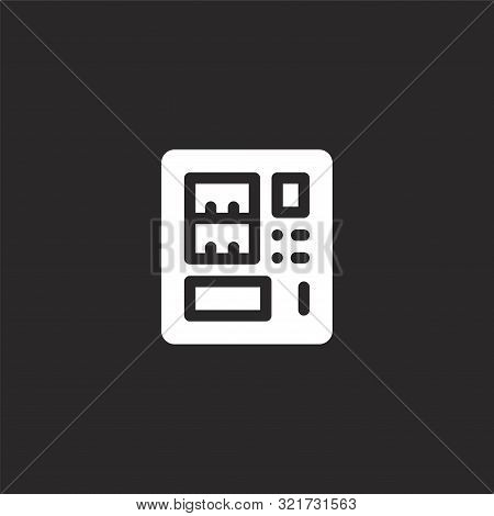 Vending Machine Icon. Vending Machine Icon Vector Flat Illustration For Graphic And Web Design Isola