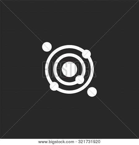 Solar System Icon. Solar System Icon Vector Flat Illustration For Graphic And Web Design Isolated On