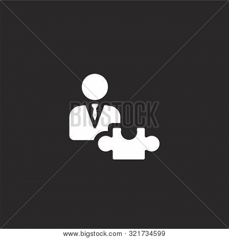 Strategic Icon. Strategic Icon Vector Flat Illustration For Graphic And Web Design Isolated On Black