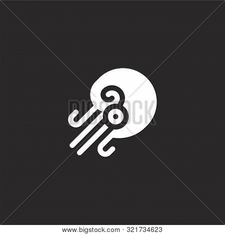 Nautilus Icon. Nautilus Icon Vector Flat Illustration For Graphic And Web Design Isolated On Black B