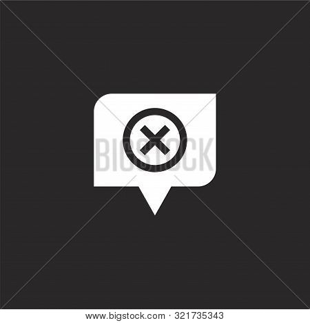 Bad Icon. Bad Icon Vector Flat Illustration For Graphic And Web Design Isolated On Black Background