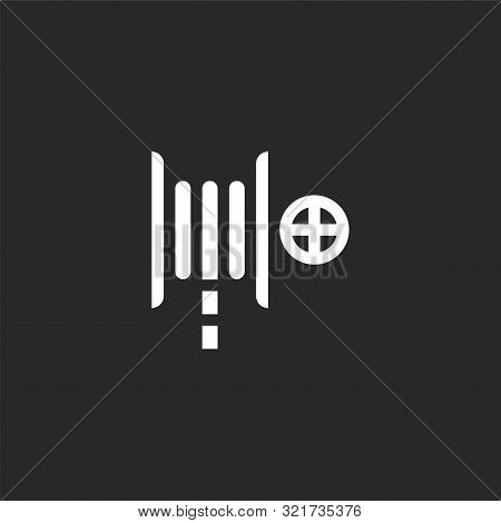 Fire Hose Icon. Fire Hose Icon Vector Flat Illustration For Graphic And Web Design Isolated On Black