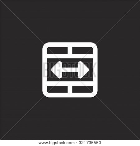 Merge Icon. Merge Icon Vector Flat Illustration For Graphic And Web Design Isolated On Black Backgro