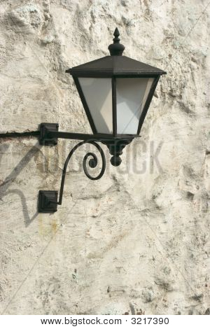 Ancient Lantern On Wall