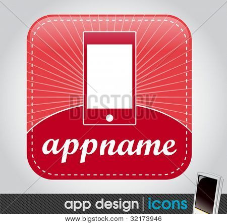 blank app icon for mobile devices