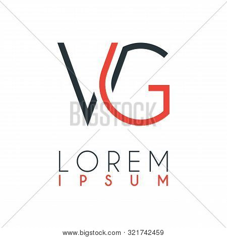 The Logo Between The Letter V And Letter G Or Vg With A Certain Distance And Connected By Orange And