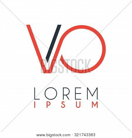 The Logo Between The Letter V And Letter O Or Vo With A Certain Distance And Connected By Orange And