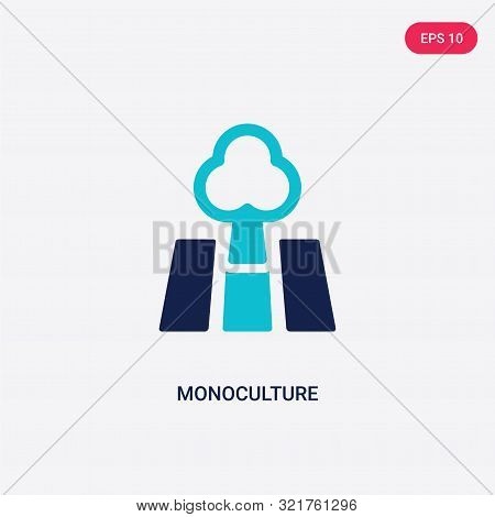 two colored monoculture vector icon from agriculture farming.