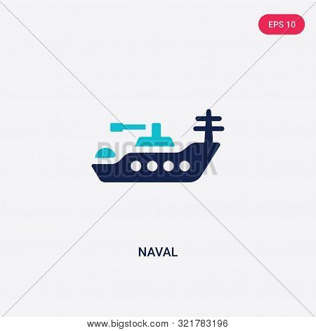 two colored naval vector icon from army and war.