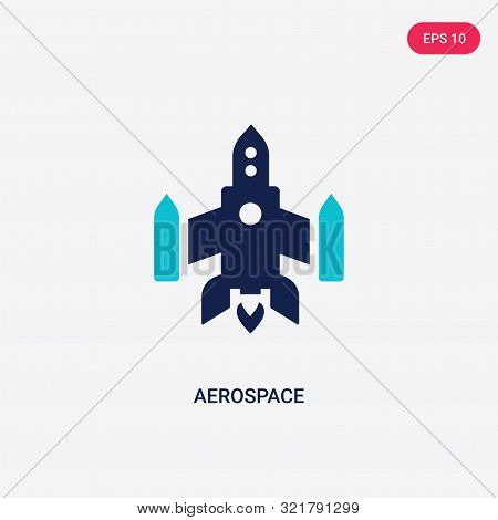 two colored aerospace vector icon from astronomy.