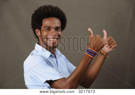 Cheerful Latino Man