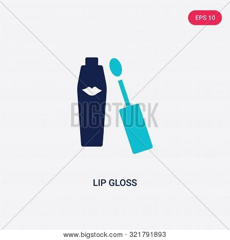 two colored lip gloss vector icon from beauty.
