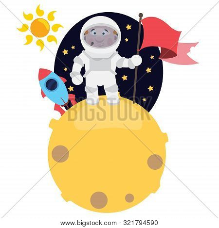 Astronaut On The Planet. The Spacecraft Pilot And The Planet. The Conquest Of Space, The Study Of Pl