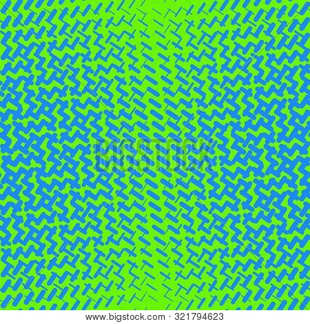Vector Geometric Halftone Seamless Pattern With Dash Lines, Crossing Shapes, Mesh, Grid. Sport Style