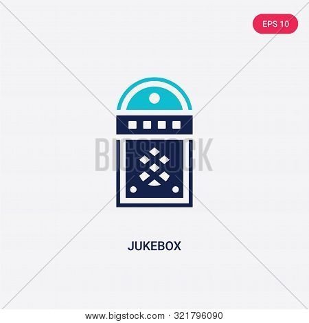 two colored jukebox vector icon from birthday party and wedding.