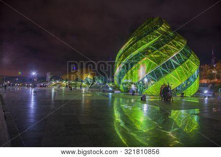 Dalat, Vietnam - - July 4, 2019: Glass Pavillion Of Lam Vien Square In Dalat, Vietnam. The Architect