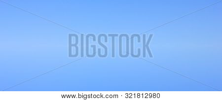 Blue Sky Light Empty Background. Bright Blue Sky Tone Wallpaper And Banner Design With Blank Natural