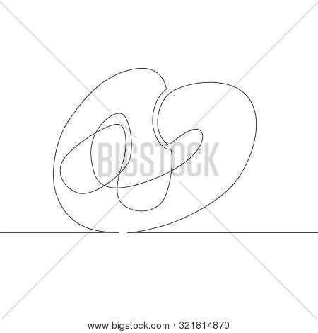 One Continuous Single Drawn Line Art Doodle German, Food, Pretzel, Soft, Eat, Salty, Snack, Bread, B