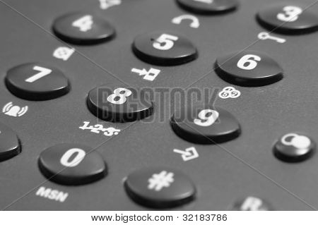 Dark Phone Keypad