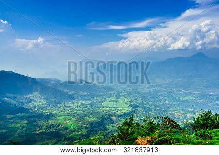 View From Top Of Mountain Las Nubes Next To The Village Of Jerico, Colombia
