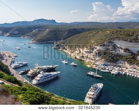(corsica - France) - 23rd August 2019 - Entrance To The Port Of The Coastal City Of Bonifacio