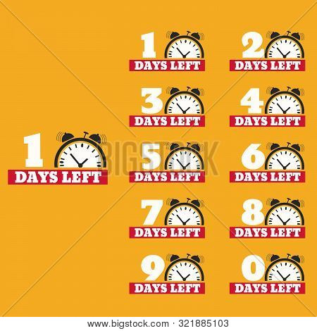 Days Left To Do Clock  Banners Collection Set Eps 10