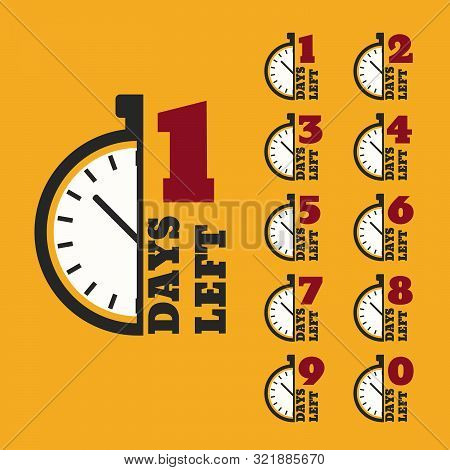 Days Left To Do Clock  Banners Collection Badges Sale, Landing Page Set Eps 10